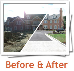 Before and After pictures of Metamorphosis Landscape Design projects, Long Island area, New York