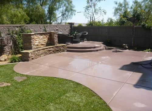 Landscaping with concrete